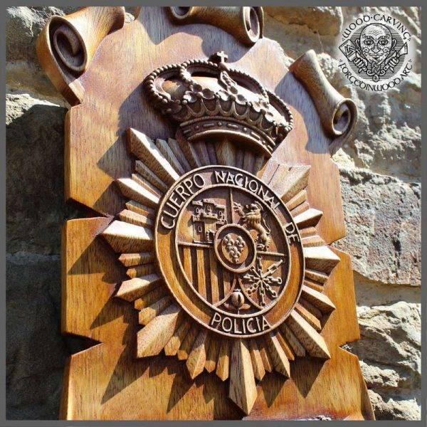 CUSTOM ORDER POLICE WOOD CARVING