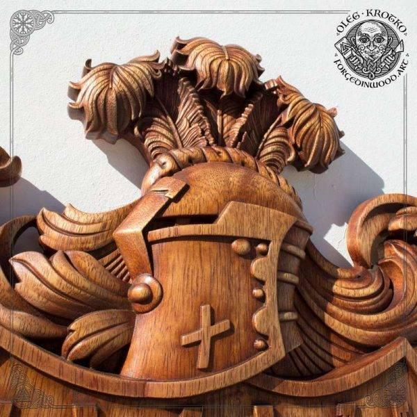 Family Heraldic Symbols hand carved