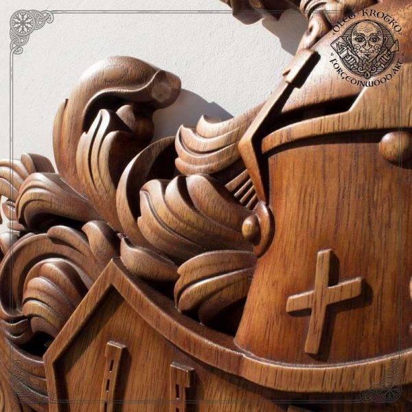best wood carver family heraldic symbols