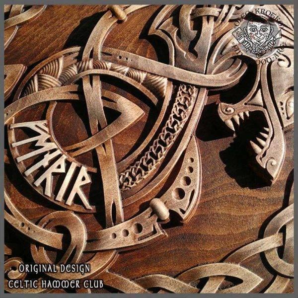 Fenrir Wolf viking carvings
