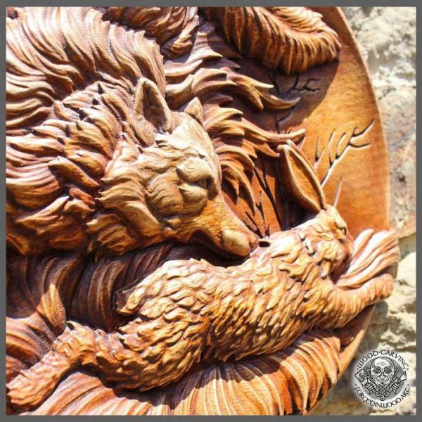 Wall Art Wood Carving Picture