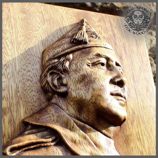 Franco Portrait wood carving
