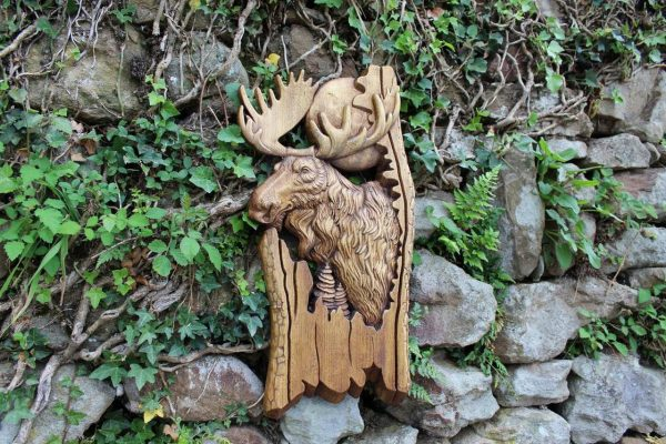 Hand carved moose for sale