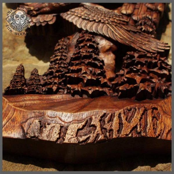 carved wood eagles for sale