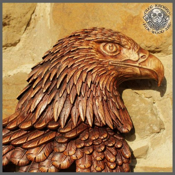 wood carving eagles
