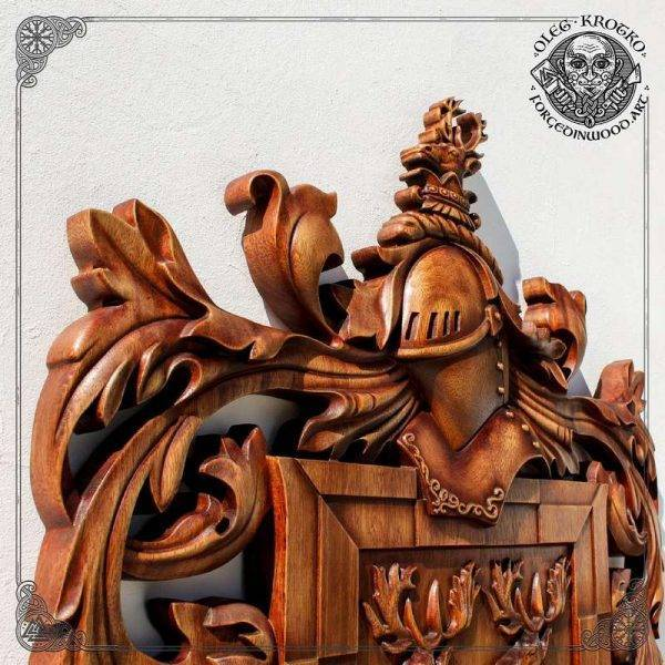 HERALDRY ART CREST DECOR wood carving