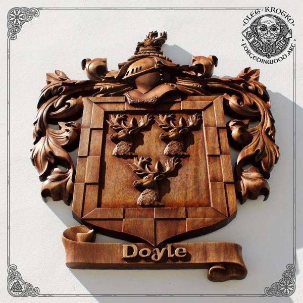 HERALDRY ART CREST DECOR woodcarver