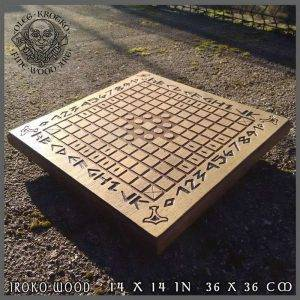 Hnefatafl traditional board game of Viking's strategy