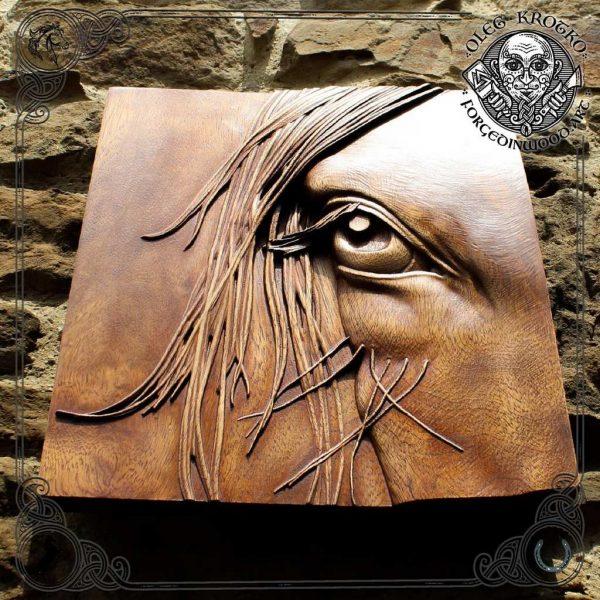 horse wall art wood carvings