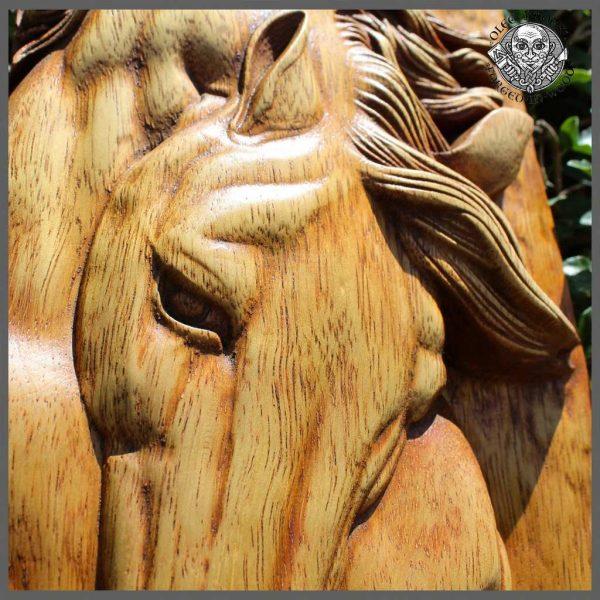Horse Head wood Sculpture for sale