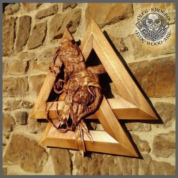 viking wood carving