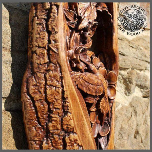 kolibri wood carving