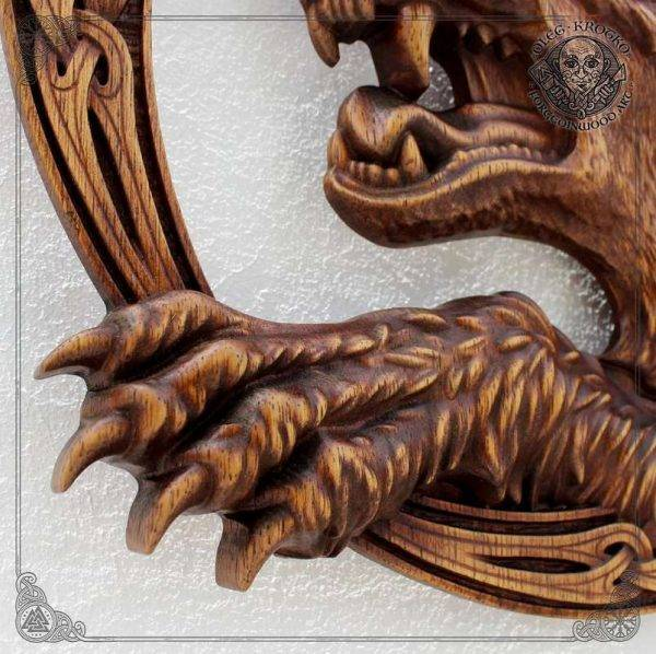 Viking Plaque wood carving