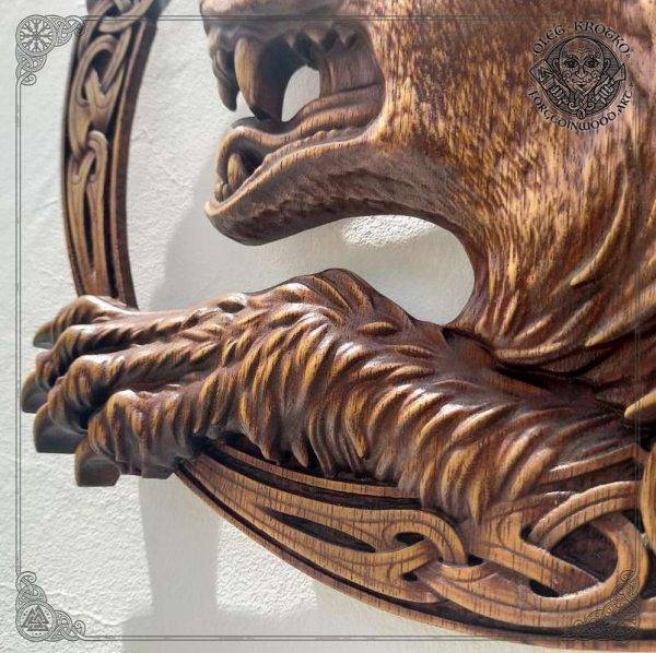 Son of Loki WOOD CARVING