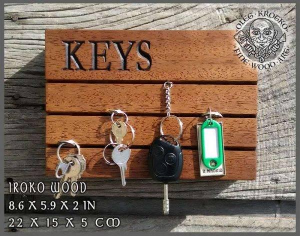 Wood Key Holder handmade