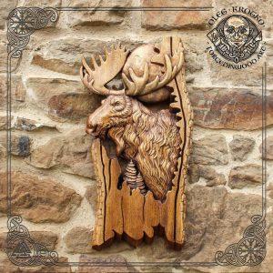Moose carved wood for sale