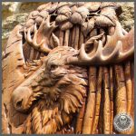 Moose carving for sale