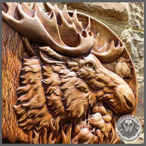 Elk wood carvings