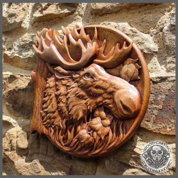 Moose wood carvings