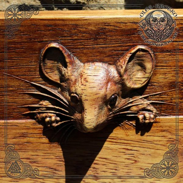 Luxury Wood Carving mouse