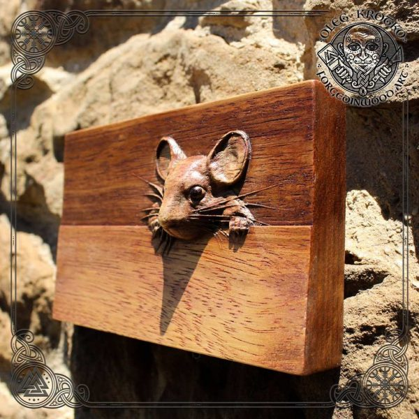wooden mouse carving