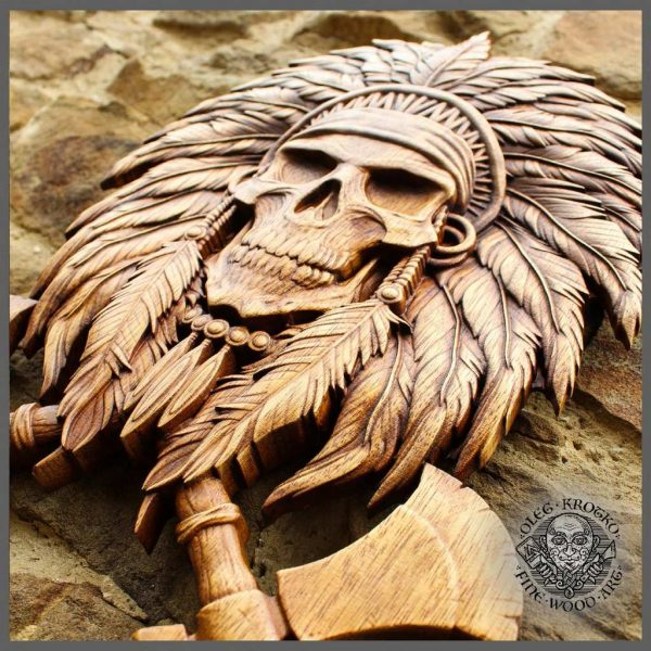 skull viking art