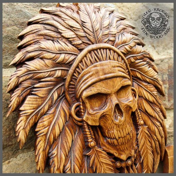 head skull AMERICAN INDIAN