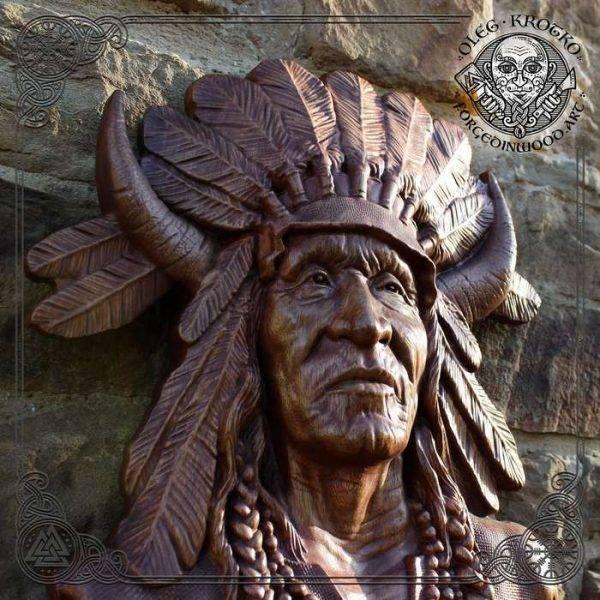 wood sculpture American Indian