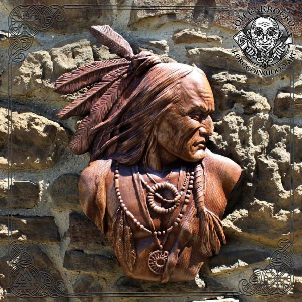 native american wood carvings for sale