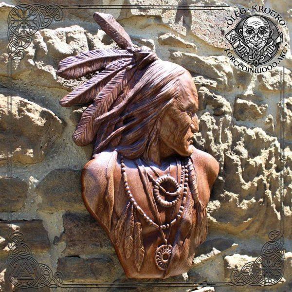 american indian wood carvings