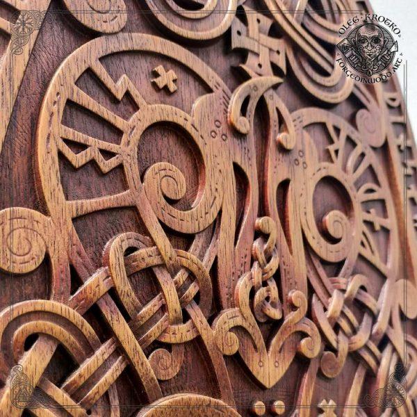 norse mythology carving
