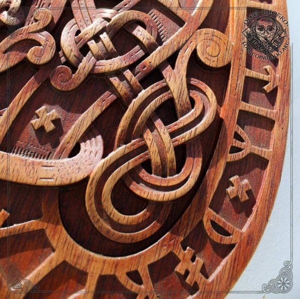 old norse wood carving