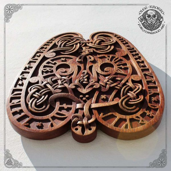 Norse Style Wood Carving Replica Viking Rune