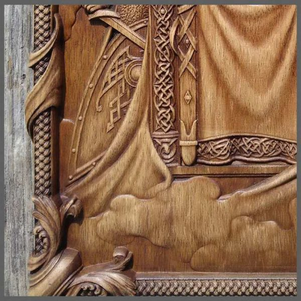 Odin wood carving