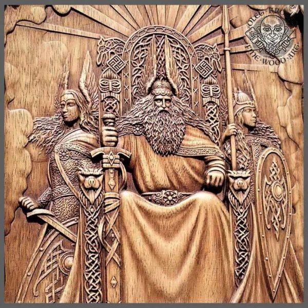 viking wood art