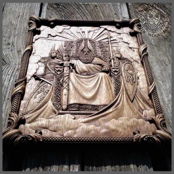 Valkiria wood carving