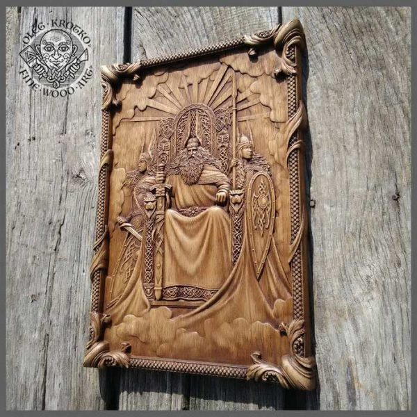 Woodcarving of Odin