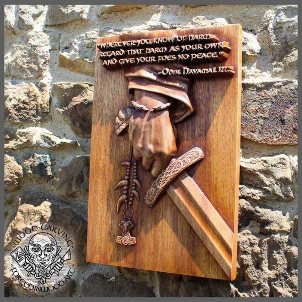 HAMAVAL wooden plaque