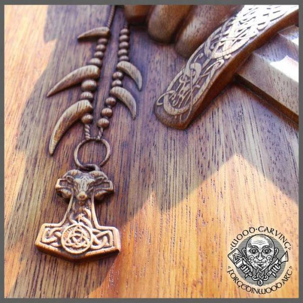 wood Viking art