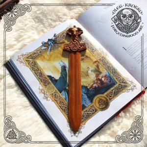 Page mark viking wood carving