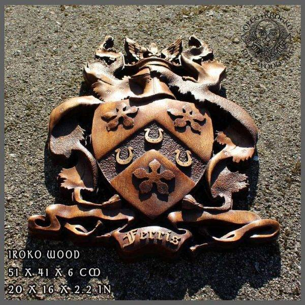 PERSONALIZED FAMILY CREST wood carving
