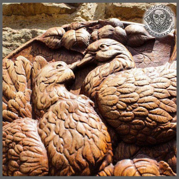 price Pigeons Bird wood carvings