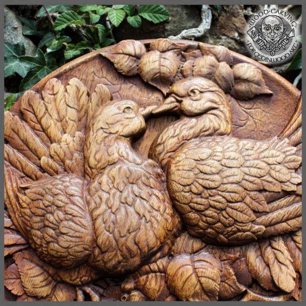 Pigeons Bird wood carving