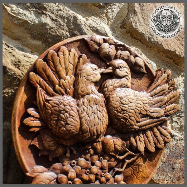 Pigeons Bird carving cheap for sale