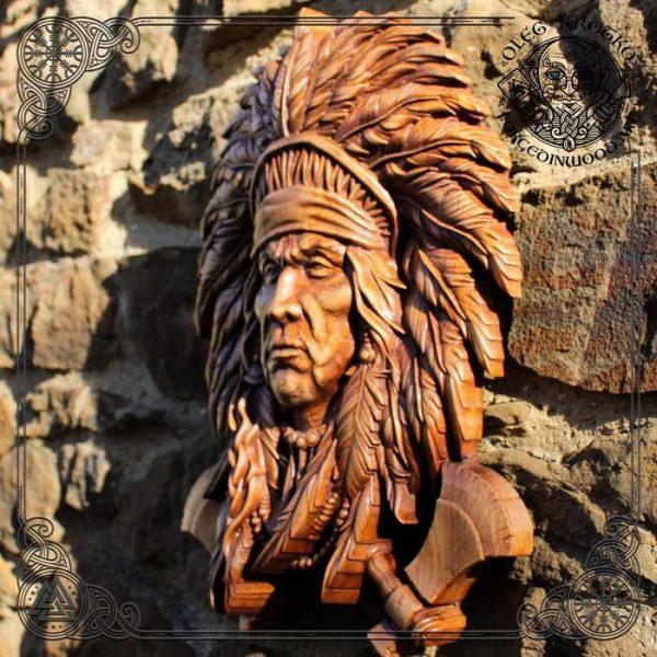 Native American wood carvings