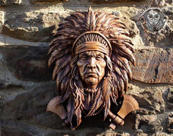 Native American Indian carvings