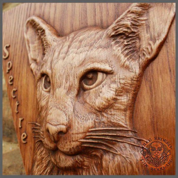 wood portrait of my cat