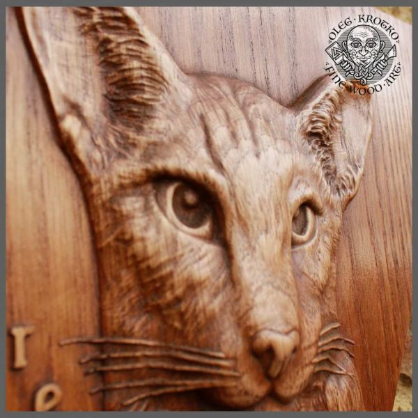 Realistic Custom pet wood art
