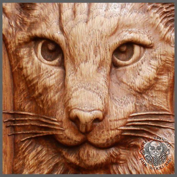 Realistic Custom pet wood carving art