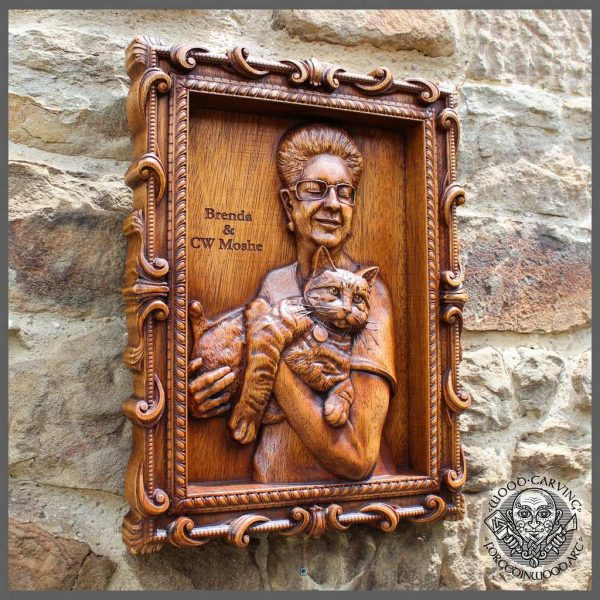 Realistic Portrait from photo - Custom Woodcarving